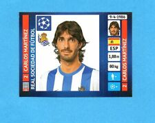 PANINI-CHAMPIONS 2013-2014-Figurina n.64- MARTINEZ -REAL SOCIEDAD-NEW BLACK