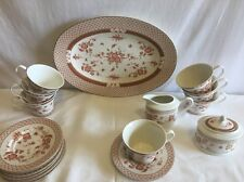 Lot 18 Pc Lovely Biltmore for Your  Home China  Lattice Porcelain White/Tan