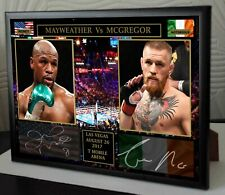 More details for conor mcgregor floyd mayweather tribute framed canvas signed print great gift