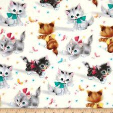 Michael Miller Kitties Cream Half Yard 45cm x 110cm Cotton 100%