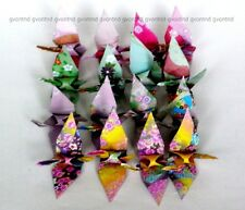 16 Origami Cranes 4 designs small size Handmade Paper birds Japanese decorations