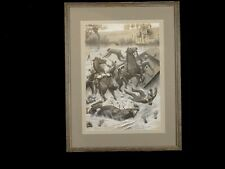 Franco Prussian War Military Illustration in Water Color Gouache