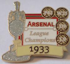 ARSENAL Victory Pins 1933 LEAGUE CHAMPIONS Danbury Mint badge 36mm x 35mm