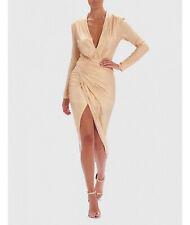Forever Unique 'Italia' V neck asymmetric 'wrapover' hem dress,  UK14, BNWT