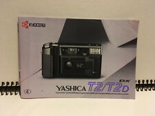 Yashica T2 / T2D Instruction Manual Bedienungsanleitung Mode D'emploi