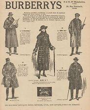 Y9427 Abbigliamento BURBERRYS - Pubblicità d'epoca - 1918 Old advertising