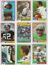 """1981 Topps Football Cards """"PICK TEN"""" COMPLETE YOUR SET! CHOOSE ANY 10"""