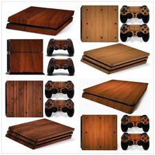 Wood Grain Skin Sticker For PS4 ORIGINAL /PRO /SLIM Gaming Console+2 Controller