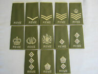 REME Rank Slide  - Green with Gold Embroidery British Army  1 PAIR