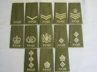 REME Rank Slide  - Green with Gold Embroidery British Army  Military