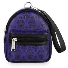 NWT Loungefly Disney Convertible The Haunted Mansion Wallpaper Backpack Wristlet