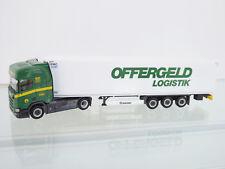 "Herpa 308755 - 1:87 - SCANIA CR HD valigia di raffreddamento-SZ ""Offergeld logistica"" - NUOVO"