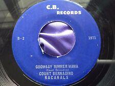 Hear Rare Upbeat Calypso 45 : Count Bernadino Bacanals ~ Goombay Summer Mama