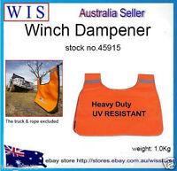 Orange Strong Durable PVC Winch Rope Dampener Blanket with Storage Pocket-45915