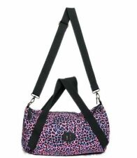 Steve Madden Girl Pink Blue Leopard Print Duffel Shoulder Satchel Bag NWT
