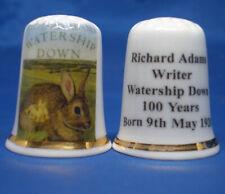 Birchcroft China Thimble - Richard Adams writer Watership Down - Free Dome Box
