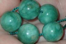 5 Rare Green Apple Indo - Tibetan, Tibet Jade beads, 14mm, #S2566