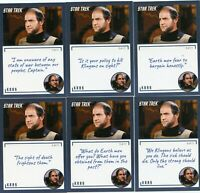 Star Trek TOS Archives & Inscriptions card #48 Kras all 11 different Variations