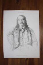 ✒ Théophile GAUTIER portrait en costume grec par CHASSERIAU - sur chine