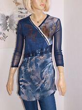Biba  Long - Shirt aufwändige Frontschmückung * Montreal * ink Gr.XS 34/36 Neuஜ