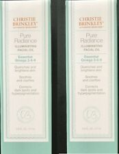 2 Christie Brinkley Pure Radiance Illuminating Facial Oil Total 1.8 oz