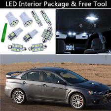 7PCS White LED Interior Car Lights Package kit Fit 07-2014 Mitsubishi Lancer J1