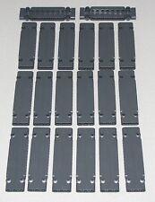 Lego Lot of 20 New Dark Bluish Gray Technic Panels Plates 3 x 11 x 1 Parts