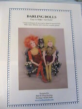 "DARLING DOLLS~BARB & DOUG KEELING~14"" seated~2005 ""EASY"" cloth art doll pattern"
