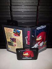 Knuckles The Echidna - Video Game for Sega Genesis! Cart & Box!