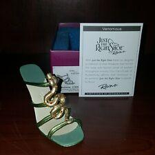 "Just The Right Shoe Raine ""Venomous"" Box Coa Step Into Nature Mib 25466 Snake"