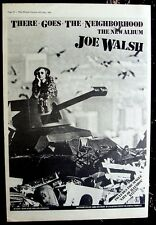 Joe Walsh 1981 Poster Ad There Goes The Neighborhood
