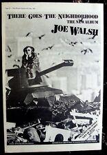 Joe Walsh 1981 Poster Ad There Goes The Neighborhood