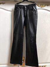 Lauren Jeans Co Ralph Lauren Black Lamb Leather Pants Sz8