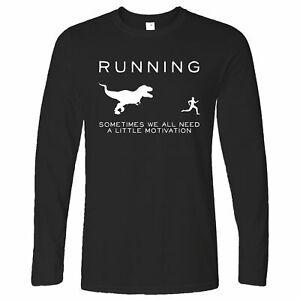 Laufen Langarmshirt Nur Need Motivation T-Rex