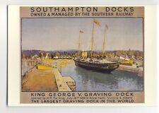 ap2915 - Southern Railway - King George V. Graving Dock & Royal Yacht - Postcard