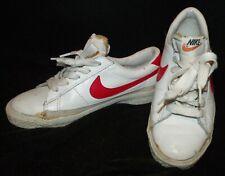 Rare Vtg 1977 NiKE Blazer white leather red Swoosh low sneaker shoe women 5