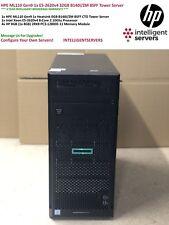 HP Proliant ML110 Gen9 V4 1x E5-2620v4 32GB B140i 2x 750W PSU 8SFF Tower Server