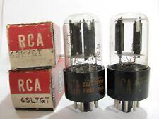 2 matched 1962-63 RCA 6SL7GT tubes - TV7B tests @ 52/53, 54/55, min:32/32