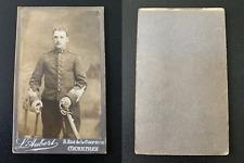 Aubert, Chartres, jeune soldat Vintage albumen print CDV. Tirage albumin