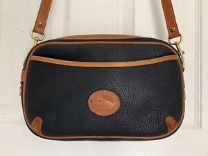 Vintage  Dooney & Bourke All Weather Leather Handbag Black Leather Satchel USA
