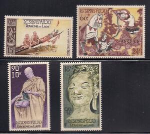 Laos   1957   Sc # C27-30   MLH   OG   (1-510)