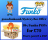 10x MYSTERY FUNKO POP LOT £60 AMAZING VALUE JUST £6 EACH ALL BRAND NEW