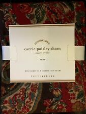 Pottery Barn Holiday Carrie Paisley Floral Duvet Cover Full/Queen New