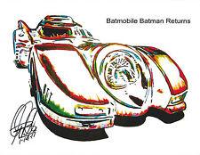 Hot Wheels, Batmobile, Batman Returns, Tim Burton, Race Car, 8.5x11 PRINT w/COA