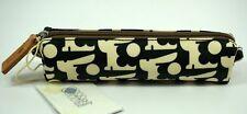 Orla Kiely NEW Pencil Cosmetic Make Up Bag Case Baby Bunny Print Black