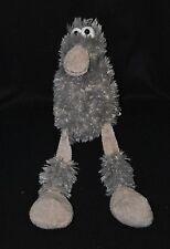 Peluche doudou oiseau CP INTERNATIONAL gris 2 tons chaussettes 36 cm TTBE