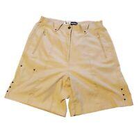 Jamie Sadock Women's Size 10 Luxury Golf Shorts 2 Zippered Pockets Khalua Khaki