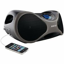 New Akai Portable Stereo CD Player BoomBox FM Radio AUX-IN LCD Display