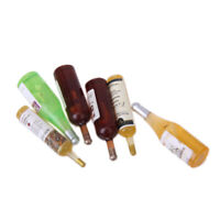 6pcs 1/12 Scale Wine Bottles Exquisite Dollhouse Miniature Accessories Parts