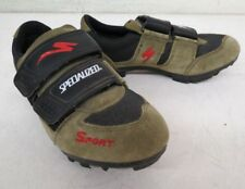 Specialized Sport Green Suede Mountain Bike Cycling Shoes w/SPD Cleats US 7/39